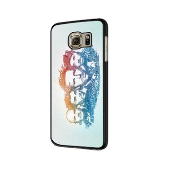 Coldplay Faces Lyrics Design Samsung Galaxy S6 | S6 Edge Cover Cases
