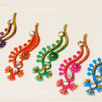 Purple, Orange, Green, Pink, Blue Color Binidis, Craft Bindis, Self Adhesive Bindis, Forehead Jewelry Decorations for Makeup.