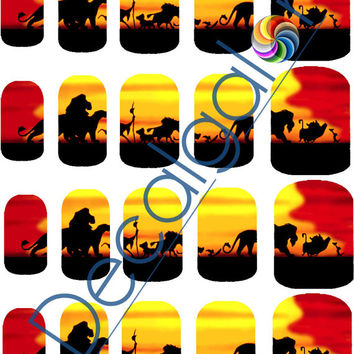 The Lion King Circle of Life Disney Nail Art Water Transfer Decal - Waterslide Paper - Water Slide Paper