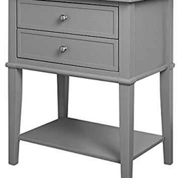Altra Franklin Accent Table with 2 Drawers, Gray