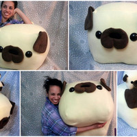 GIANT PUG loaf pillow by Cornstarch on Etsy