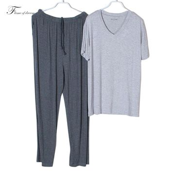 Modal material Pijamas Hombre Nightwear Man Pijamas Hombres Pajamas Men Men Pajama Man Clothing Set d115