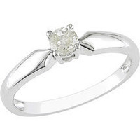 Walmart: 1/5 Carat T.W. Round Diamond Solitaire Ring in 10kt White Gold