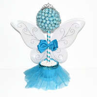 Blue Lollipop Fairy Princess Topiary, Fairy Centerpiece, Lollipop Centerpiece, Candy Centerpiece, Fairy, Birthday, Centerpiece, Blue Fairy