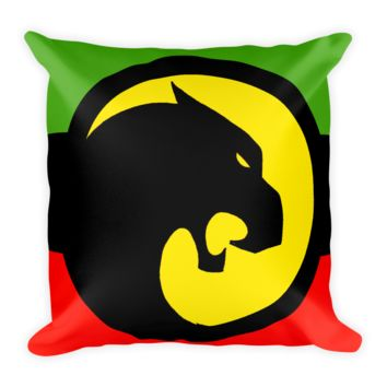 The Black Panther Flag Square Pillow