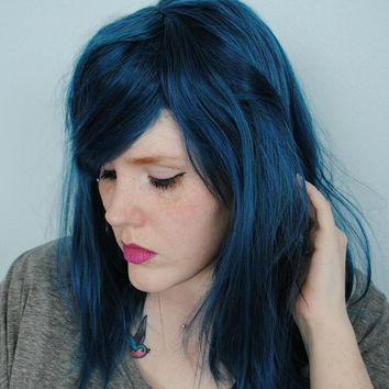 SALE Blue wig, scene wig, cosplay wig, emo wig, blue hair wig, mermaid wig, straight wig // Pacific Mist