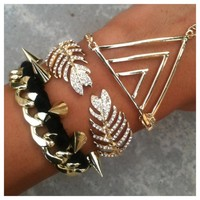 Gold and Fabulous Bracelet Hand Chain Set- Tanya Kara Jewelry