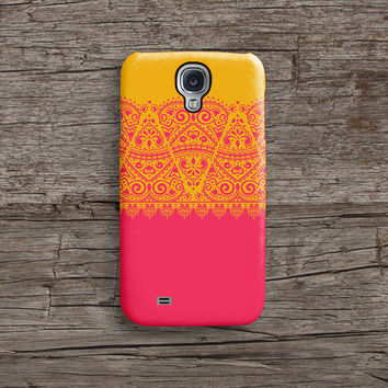 Pink and orange lace iPhone 6 case, iPhone 6 plus case S601