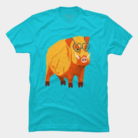 Funny Boar With Heart Shaped Glasses T Shirt By Boriana Design By Humans