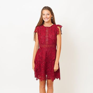 The Lace Pom Dress