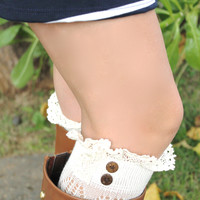 Boot Sock Cuffs in Ivory