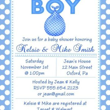 10 It's A Boy Baby Shower Invitations