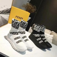 Fendi New Fashion More FF Knit Sneakers Sports Leisure Sock Shoes