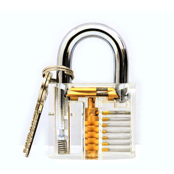 Beautiful Design Modern Style Transparent Visible Pick Cutaway Mini Practice View Padlock Lock Training Skill For Locksmith 2017