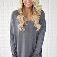 Hold On To Me Sweater ~ Grey