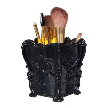 ONETOW Brush Holder LuckyFine Butterfly Acrylic Makeup Holder Box Cosmetic Storage Holder Organizer Brush Pencil Pen Containers Display Stand,Makeup Organizer,Makeup Cup