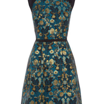WARNER JACQUARD SKATER DRESS