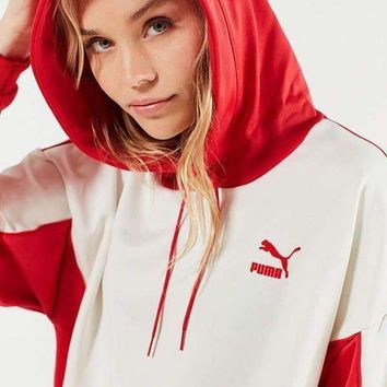 onetow day first puma oversized color block hoodie sweatshirt  number 1