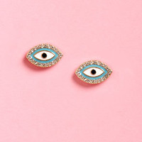 The Eyes Have It Blue Eye Earrings