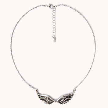 Etched Wings Necklace | FOREVER21 - 1034655733