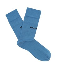 Logo-intarsia cotton-blend socks | Balenciaga | MATCHESFASHION.COM US