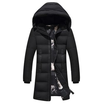 2017 Thick Winter Down Jacket Men Warm New Fashion Brand Clothing Top Quality Long Male 90% White Duck Down Coat xia245wy