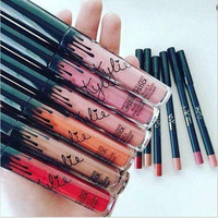 2016 Hot selling! New Lip Gloss Lipstick Lip Gloss Kylie lip Kit Eyeliner lip gloss liquid lipstick matte 13 colors kylie jenner