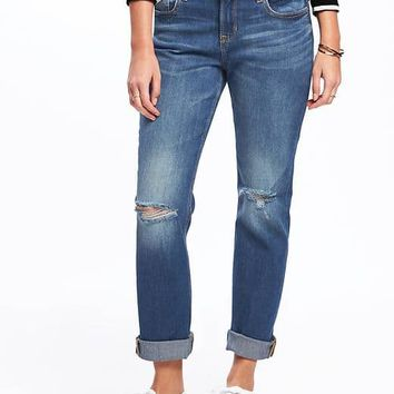 Boyfriend Straight Jeans for Women | Old Navy