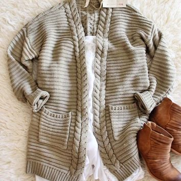 Cozy Bundle Sweater in Olive