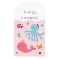 Pink Under The Sea Party Favor Tags Pack Of Gift Tags