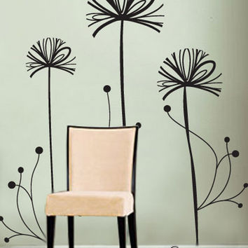 Vinyl Wall Decal Sticker Spring Flowers #390
