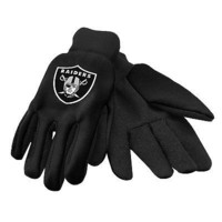 Oakland Raider Black Team Logo Licensed NFL Sport Utility Gloves-New with Tags!
