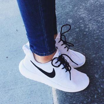 nike roshe one white black women casual sport shoes sneakers