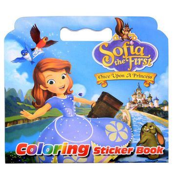 16 Pages Girl The First Coloring Sticker Book For Children