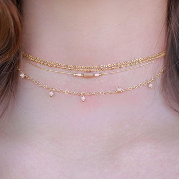 Just Peachy Choker Set