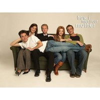 (24x36) How I Met Your Mother Group on Couch TV Poster Print