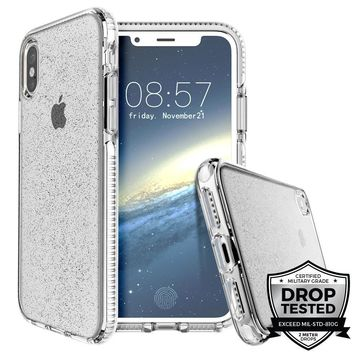Prodigee Super Star Clear Sparkle Glitter Phone Case for iPhone X 10