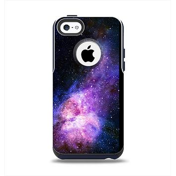 The Vibrant Purple and Blue Nebula Apple iPhone 5c Otterbox Commuter Case Skin Set