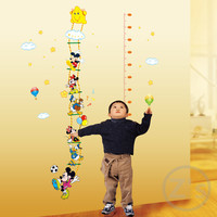 Mickey Mouse Rangefinder Wall Sticker Children Home Decor Cartoon Wall Decal DIY for Kids Room Decal Baby Mural Nursery