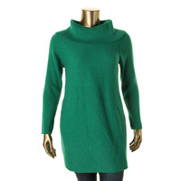 Alfani Womens Plus Metallic Ribbed Knit Tunic Sweater
