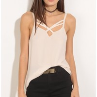 Tops > Criss-Cross Day Top In Ivory