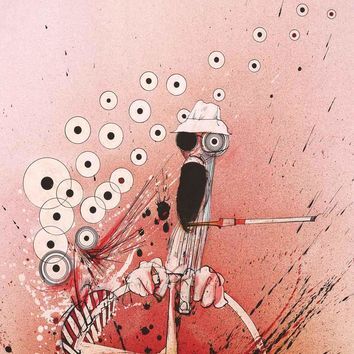 Ralph Steadman Hunter S Thompson Driving Poster 24x36