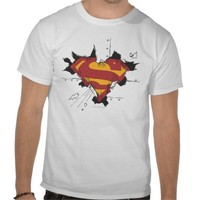 Superman broken metal tshirt from Zazzle.com