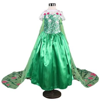 High Quality Girl Dresses Flower Girl Princess Mermaid Children Clothing Cosplay Costume Kids Party Dress For Baby Girls Clothes
