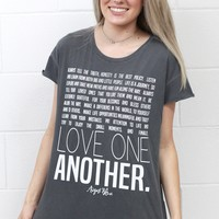 Advice Collection: Love One Another Tee {Charcoal}