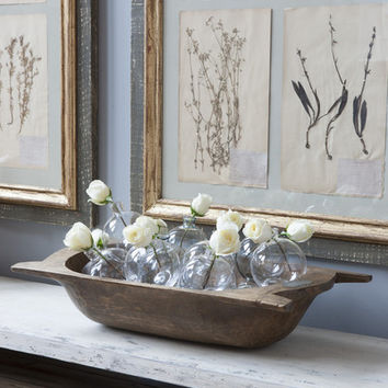4 Piece Framed Botanicals, Grey