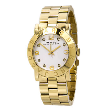 Marc by Marc Jacobs MBM3056 Women's Amy Gold Tone Stainless Steel White Dial Watch