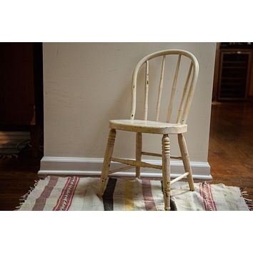 Chippy Antique Childs Windsor Chair Shabby Chic