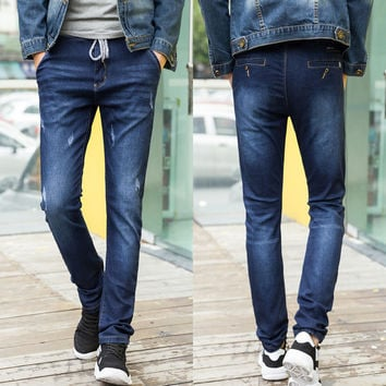 Winter Korean Men Denim Pants Jeans [6528731459]
