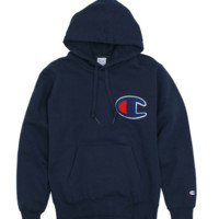 """"""" Champion""""Fashion print blouse casual hooded sweater Navy blue(5 color)"""
